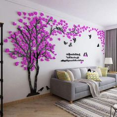 Large Size Couple Tree Mirror Wall Stickers TV Backdrop DIY Acrylic Autocollant Mural Home Decor Living Room Wall Decals Wall Stickers Living Room, Photo Wall Design, Mural, Wall Decals For Bedroom, Tree Wall Stickers, Wall Art Designs, Modern Wall Decor, Photo Wall Gallery, Mirror Wall Stickers