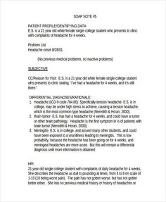 Soap Note Template   Free Word Pdf Format Download  Soap Note