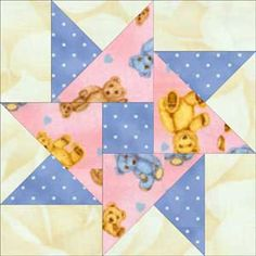 Double Star Quilt Pattern: The Double Star Quilt Block