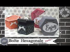 """Vidéo-Tuto """"Boîtes Hexagonales... et un peu plus !"""" par Coul'Heure Papier - YouTube"""
