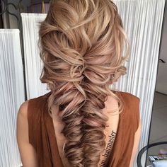 Chic to chic braid @ksenia_skl))) I think it's a great option for brides, and for evening out, and will be especially harmonious look at natural / forest photo shoots).