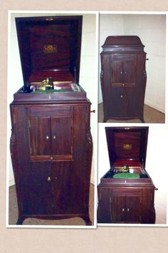 ~Our old Victrola, one of my favorite things. It still sounds and plays great too !!~