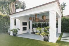Palisades Traditional — Burdge and Associates Architects - Backyard pool designs - Pool House Designs, Backyard Patio Designs, Backyard Landscaping, Patio Ideas, Landscaping Ideas, Backyard Ideas, Outdoor Living Rooms, Outdoor Spaces, Backyard Pavilion