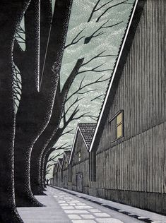 I am absolutely in awe of Ray Morimura's woodblock prints.