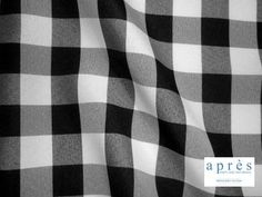 Black Gingham Poly. Available for rent in various sizes from apresparty.com Black Linen, Gingham, Louis Vuitton Damier, Company Logo, Pattern, Patterns, Model, Swatch