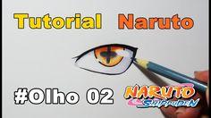 Como Desenhar Olho Naruto Modo Rikudou - How to Draw Naruto Eye