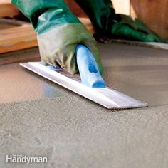 How to Finish Concrete | The Family Handyman
