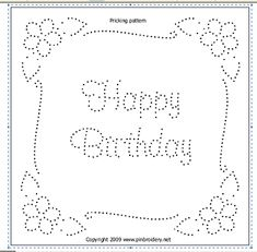 Tin Punch Happy Birthday Pattern