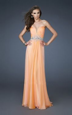 Column Floor-length Notched Neckline Chiffon Prom Dress