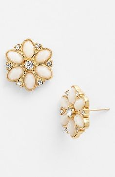 kate spade new york 'floral fete' stud earrings | Nordstrom - perfect for a bride