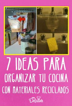 7 ideas to organize your kitchen with recycled materials - Famous Last Words Ideas Para Organizar, Famous Last Words, Recycled Materials, Recycling, Kitchen Appliances, Cool Stuff, Handmade, Diy, Home Decor
