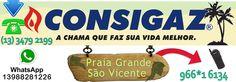 Gás de Cozinha Praia Grande e São Vicente - Gás Praia Grande e São Vicente - Consigaz