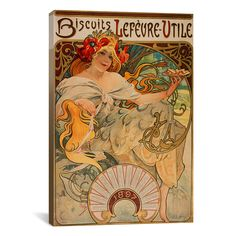 Biscuits Lefevre Utile -such great artwork and for just a box of biscuits . . . a time when artwork was valued and expected no matter an individuals' background