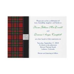 Royal Stuart Tartan Wedding Invitation by wasootch