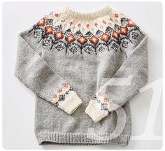 Crochet Patterns Sweaters Knitting pattern Norwegian pullover with round yoke Knitting Blogs, Knitting Kits, Fair Isle Knitting, Sweater Knitting Patterns, Loom Knitting, Baby Knitting, Crochet Patterns, Icelandic Sweaters, Nordic Sweater