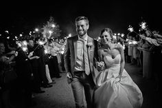 sparkler exit | Kristyn Hogan #wedding