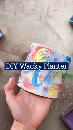 Diy Crafts For Teens, Fun Diy Crafts, Diy Arts And Crafts, 5 Minute Crafts Videos, Craft Videos, Diy Planters, Diy Party Decorations, Diy Projects To Try, Diy Gifts