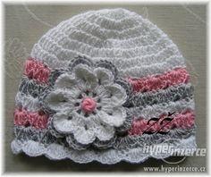 Jarní háčkované čepičky - Praha - západ, inzerce, prodám Crochet Baby Hat Patterns, Crochet Baby Beanie, Crochet Kids Hats, Crochet Beanie Pattern, Crochet Cap, Crochet Gifts, Crochet Scarves, Crochet Stitches, Knitted Hats