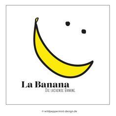 Banane, Bananas, gelb, skizze, illustration, lustig, funny // © wildpeppermint-design.de