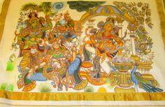 Mural painted saree. www.facebook.com/Grand.Apoorva
