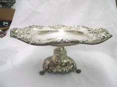 Frank Smith Sterling Silver Fancy Grape Decorated Center Piece Compote Mono NBA | eBay
