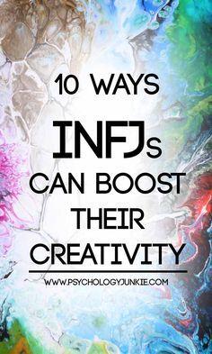 Creativity hacks for the #INFJ #personality! #MBTI