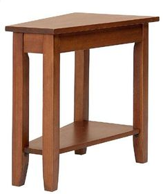 Country Marketplace - Solid Birch with cherry stain Narrow Angled #Endtable (http://www.countrymarketplaces.com/products/Solid-Oak-Narrow-Angled-End-Table-.html)