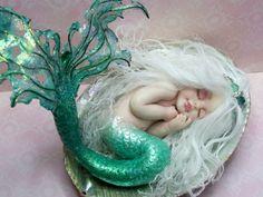 OOAK art doll fantasy mermaid baby by JoyzanzCreations