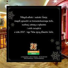 Pełnych miłości i radości Świąt, samych pyszności na bożonarodzeniowym stole, szalonej zabawy w sylwestra i wiele szczęścia w roku 2017 - tego Wam życzy Namaste India. :)