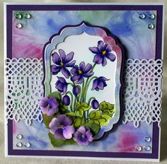 Sheena Douglass – Crafts, Papercrafting, Stamps, Create & Craft » FANTASY FLORAL – May 2013 Fall Crafts, Crafts For Kids, Diy Crafts, Craft Jobs, Sheena Douglass, Fall Preschool, Craft Free, Create And Craft, Card Making