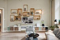 Reciclado decorativo con cajas | Decorar tu casa es facilisimo.com