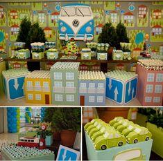 festa infantil menino, festa carros, festa fusca, festa kombi, cars party, kombi party,