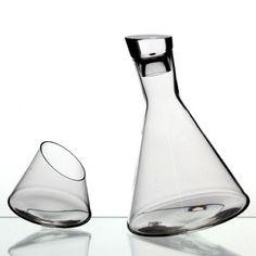 Rolling Decanter (Manhattan Crystal Glassware by Ichendorf)