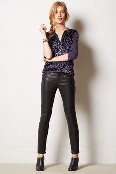Have this top, love this top.  Will wear it like this & with torn boyfriend jeans & heels.
