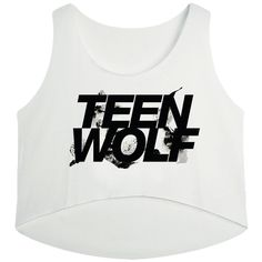 White Teen Wolf Printed High Low Casual Womens Crop Top (€4,97) ❤ liked on Polyvore featuring tops, shirts, crop tops, teen wolf, black, white, white tops, crop shirt, white crop shirt and white crop top