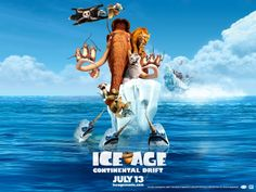 The movie Ice Age 4 Continental Drift: trailer, clips, photos, soundtrack, news and much more! Latest Hollywood Movies, Latest Movies, Dreamworks, Ice Age 4, Peliculas Audio Latino Online, Ice Age Movies, Outdoor Movie Screen, The Shawshank Redemption, Cinema