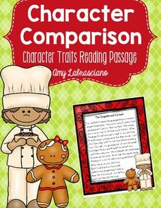 Christmas Character Traits Passage - Print and teach reading passages.  Filled with lesson ideas and materials.