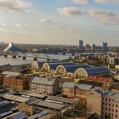 Riga Central Market #riga #aerial #cityview #cityscape Riga, Central Market, Old Town, Paris Skyline, New Experience, Curly Hairstyle, Travel, Instagram, Museum