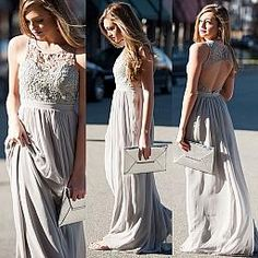 Divine Dove Maxi Dress