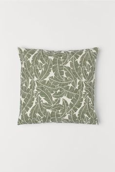 Canvas Cushion Cover - Moss green - Home All Couch Pillows, Cushions, Cushion Covers, Pillow Covers, Backyard Furniture, H&m Home, H&m Gifts, Coton Bio, My Canvas