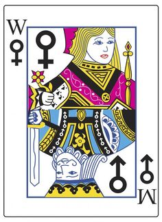 "Poster for tomorrow | Gender Equality, ""The gender card"", Anthony DiFabio - United States  ""Flip it vertically or horizontally and both the male and female sides of the card will remain equals. As they should be."""