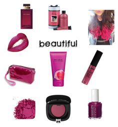 """""""Raspberry!! Sweet"""" by macielj13 ❤ liked on Polyvore featuring beauty, Urban Decay, Essie, Marc Jacobs, Dolce&Gabbana, philosophy and NYX"""