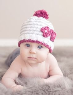 DIY baby hat with flowers