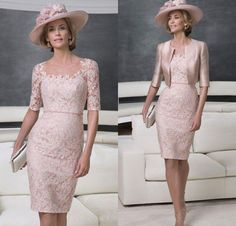 Pink Lace Satin Jacket Knee Length Mother Of The Bride Dresses 2015 Suit Mother Of Groom Dress Amj1001 Joan Rivers Rivers Formal Dresses For Moms From Vonsbridaldress, $118.33| Dhgate.Com