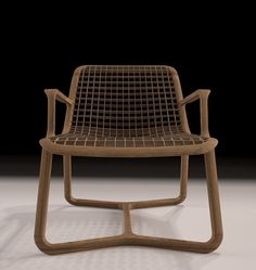 Riza Air lounge chair design by TDT for Thelos in Walnut wood.