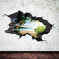 The item for sale is of the wall sticker shown in the display. Why Choose Us to Make Your Wall Sticker? The end result is of a painted look rather than an obvious sticker on the wall. Your wall sticker is made from scratch from when you place your order. Wall Painting Decor, Mural Wall Art, Murals Street Art, 3d Street Art, Wall Drawing, Creative Art, Illusion, 3 D Art, Graffiti
