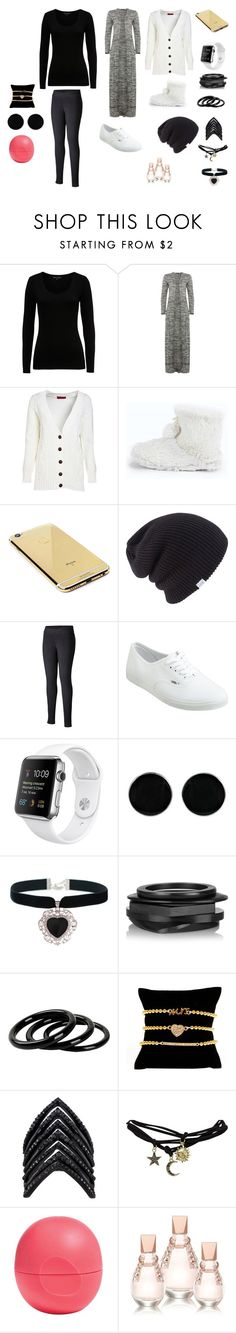 """kasım 15"" by mervenara on Polyvore featuring moda, French Connection, Boohoo, Goldgenie, Coal, Columbia, Vans, AeraVida, Rock 'N Rose ve Kenneth Jay Lane"