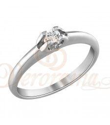 Μονόπετρo δαχτυλίδι Κ18 λευκόχρυσο με διαμάντι κοπής brilliant - MBR_079 Engagement Rings, Jewelry, Fashion, Rings For Engagement, Wedding Rings, Jewlery, Moda, Jewels, La Mode