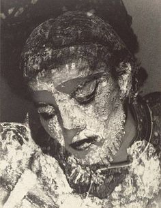 'Juliet with mud mask', American, 1945. by Man Ray