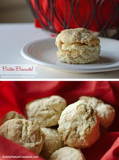 Butter Biscuits!  These are buttery and flaky on the outside/ soft and warm on the inside.  Make perfect biscuits every time with this timeless recipe that uses only butter instead of lard or Crisco.